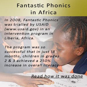 Liberian School Children using Fantastic Phonics